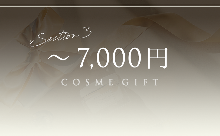 Section3 ~7,000円 COSME GIFT